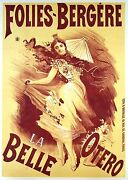 Vintage French Music-hall Poster Folies-bergere La Belle Otero Ci 1895