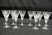 10 Pc Villeroy And Boch Crystal Tulip Claret Cordial Glasses W/cut Foot, Etched Vb