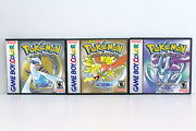Pokemon Gold Silver And Crystal Custom Game Cases No Game Game Boy Color Gbc