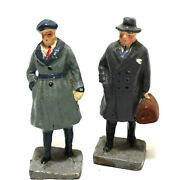 2 Vintage English Character Figures 3 Resin Diorama Model Train Made In Japan++