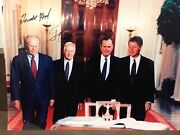 Gerald Ford Jimmy Carter Full Signature 8x10 Photo Signed Authentic