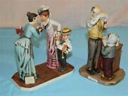 Pair Of Vintage Dave Grossman Rockwell Figurines Magic Potion And First Day School