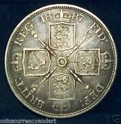 1887 Great Britain Double Florin Km 763