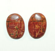 Painted Creek Jasper Cabochons 18x13mm With 4mm Dome Set Of 2 9951