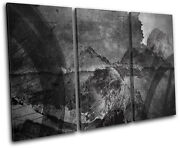 Industrial Cycling Abstract Treble Canvas Wall Art Picture Print
