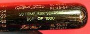 50 Home Run Seasons Limited Edition Hof Bat With M.mantle,b.ruth W.mays And More