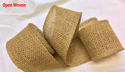 3m Mts Rustic Natural Jute Burlap Hessian Ribbon Country Wedding Gift Wrap Decor