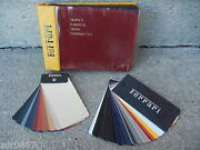Ferrari Dealer Carpet Paint And Leather Samples In Excellent Condition