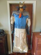 Antique Japanese Chinese Asian Silk Textile Warrior Parade Armor Robe Costume