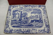 Vintage Set Of 4 Spode Blue Italian C1816 Cork Board Acrylic Placemats In Box
