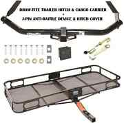 Trailer Hitch For 09-16 Toyota Venza + Cargo Basket Carrier + Silent Pin Lock
