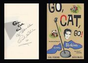 Carl Perkins Autographed Signed Book Go, Cat, Go Rock And Roll