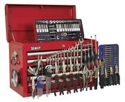 Topchest 5 Drawer With Ball Bearing Runners - Red And 138pc Tool Kit Ap33059combo
