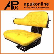Quality Universal Suspension Seat Tractor Dumper Forklift Mower Digger Yellow