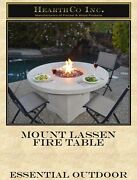 Mount Lassen Fire Table