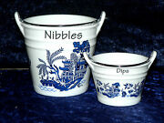 Blue Willow Ceramic Buckets Perfect For Tapas Dishes Nibbles And Dips 2 Sizes