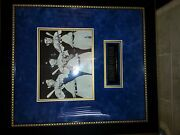 Joseph Dimaggio Ted Williams And Mickey Mantle Signed Photos With Frame