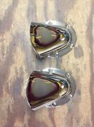 Vintage Boat Vents Pair Polished Nickel Plated March 16and039