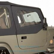 88-95 Replacement Soft Top Upper Doors For Jeep Wrangler Tinted Windows