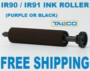 24 Ir90 91 Black Ink Rollers For Sharp Er-a320 And Casio Ce3700 Free Shipping