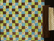 Bright Owl Patchwork Flannel Quilt Top Fabric And Flannel Dot And Minky Fabric