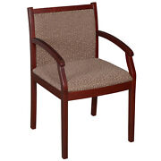 Office Guest Chairs Designer Upholstered Custom Fabric Reception Visitor Side