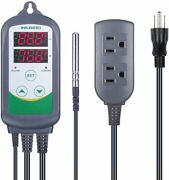 Inkbird 308 Temperature Controller 110v Thermostat Switch Heating 2 Relay 10a Cf