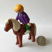 Playmobil Little Boy And Red Brown Pony 3118 5937 Ranch Farm Mansion Dollhouse