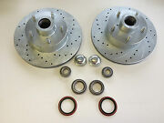 Mustang 2 Ii Suspension 11 Drilled Slotted Rotors G.m. Chevy 5 X 4-3/4 Rat Rod