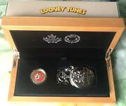 14 Karat Gold 100 Bugs And Friends Coin With Looney Tunes Pocket Watch All Coa