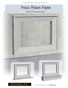 Frisco Picture Frame Cast Stone Fireplace Mantel Mantle Surround