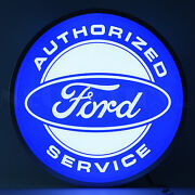 Authorized Ford Service Back Lit Led Sign - Mustang - F-150 - Lamp - 15 - Olp