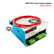 New Hq 40w Power Supply For Co2 Laser Engraver Cuttier 110v Expedited Hv Wire