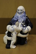Retired Potting Shed Dedham Holiday Christmas Santa +boy And Puppy Figurine H68