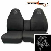 60-40 Hi Back Seat Covers Made To Fit 91-12 Ranger / Charcoal W Tribl Eagle