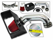 Cold Heat Shield Air Intake + Red Filter For 13-18 Ram 3500 5.7l V8