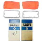 Nos Parking Lens And Gasket Set For 1964-1970 Dodge A100/a108 Trucks And