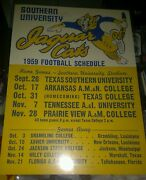Vintage 1959 Southern University Jaguars College Football Schedule Poster 11x15