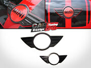 2carbon Trunk+hood Emblem Badge Cover Overlay For Mini Cooper S Countryman R60