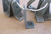 Chrome Over Bronze L Brackets For Boat Tables Or Shelving 3.5 X 1.5 Old Style
