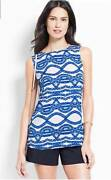 Ann Taylor Nautical Top Size Xs Women's Rope Shell Blouse Blue/white 2 Nwt