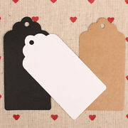 Diy Blank Kraft Paper Hang Tags Luggage Wedding Party Favor Label Gift Cards