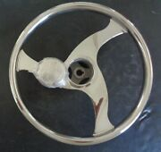 Stainless Steel 13.5 Inch Destroyer Wheel With Finger Grips White Water 73435fgt