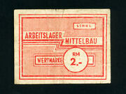Germany/mittelbau Camp 2 Rm1943-5 Wwii Rare