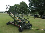 Military Surplus Maintenance Stand Portable Steps Stairs Ladder Us Army