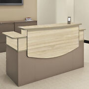 Modern Office Reception Desk Receptionist Station Waiting Lounge Lobby Room New