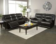 Rich Black Casual Style Dual Reclining Sofa Loveseat And Recliner Living Room 3pc