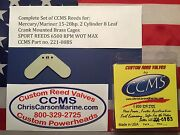 Ccms Mercury/mariner Sport Outboard Reed 15-28hp 2 Cyl. 8 Leaf Brass Pn221-08bs