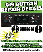 Chevrolet Chevy Button Decals Stickers Climate Traverse Tahoe Yukon 12 Sets