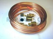 Mechanical Oil Pressure Gauge Copper Tubing Line Kit 1/8 Od X 16and039 Abc523